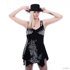 Jessica-7021 (DEVSart) Tags: nikon d810 tamrom2470 model toronto pretty dress fishnets stockings beautiful shortdress longhair longlegs blonde