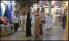 Mutrah souq, Muscat, Oman (henrik.schwarz) Tags: oman muscat mutrah souq family shopping covered