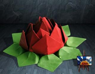 How to Make an Origami Lotus Flower by Tadashi Mori