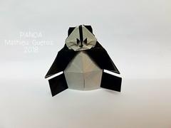 Origami Panda (Mathieu Gueros Origami) Tags: panda origamipanda mathieuguerosorigami mathieugueros