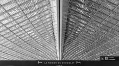 cdg * l'aéroport du chocolat (bilderkombinat berlin) Tags: ⨀2018 paris cdg airport eu capital aeropuerto bw aéroport france airfrance blackwhite ceiling lettering sign terminal indoor pattern europa europe symmetry structures charlesdegaulle roissy