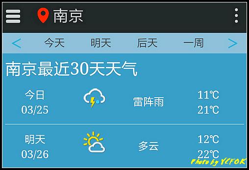 南京 2018-03-25 天氣