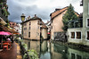 Along the River in Annecy, France (` Toshio ') Tags: toshio annecy france french thiouriver thiou river water cafe oldtown city europe european europeanunion people tourists tourism travel reflections clouds duck