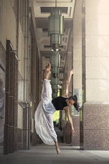 (dimitryroulland) Tags: nikon d600 85mm dimitryroulland kuala lumpur malaysia asia travel trip natural light split flexible people flexibility pointe dance dancer dress white city urban street performer art artist gymnast gymnastics gym