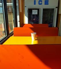 Czech Stop, West, Texas (blafond) Tags: czechstop west texas coffee café orange orangeandyellow orangeetjaune ice