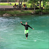 the man who walks on water! (Bernergieu) Tags: bern switzerland aare people square waterside riverside amazing