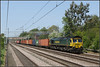 66599, Cathiron (Jason 87030) Tags: shed fred cathiron wcml warwickshire ts lineside location diesel engine gm 66599 4l46 laweyat street londongateway liner cargo containers boxes frecht freight railwat scene 2018 may canon sunny eos 50d class66 working tren tree cottages light green