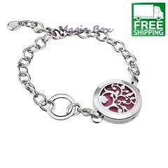 Aromatherapy bracelet- Silver Tree of Life- Free Shipping! – Carmaya (essentialoils.carmaya) Tags: aromatherapy bracelets