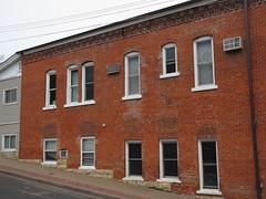 Altered brick wall on Oak Street, Stillwater, Minnesota (Paul McClure DC) Tags: stillwater washingtoncounty minnesota may2018 historic architecture