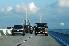 Approaching the Sunshine Skyway Bridge (Infinity & Beyond Photography: Kev Cook) Tags: bob graham sunshine skyway bridge tampa bay road vehicles