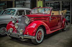 MERCEDES 170S CONVERTIBLE (Peter's HDR-Studio) Tags: petershdrstudio hdr classiccar mercedesbenz klassiker oldtimer old car auto vintage convertible cabriolet red rot