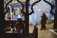 Chefchaouen with rain (S.Pompei photo) Tags: chefchaouen africa ontheroad stphotographia streetlife street flickrtravelaward travel travelers traveling travelphotography people silhouette light shadows shadow northafrica rain colors
