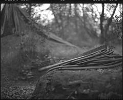 broom and trails (Garrett Meyers) Tags: pentax67 mediumformat 6x7 trails bmx dirtjumps ladder dog dirt jumps kodak kodakfilm trix kodaktrix homedeveloped blackandwhitefilm film 120 building jump tx filmphotographer