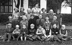 Class photo (theirhistory) Tags: children kids boys girls school class group form teacher jacket jumper trousers wellies rubberboots