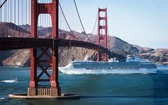(seua_yai) Tags: northamerica california sanfrancisco thecity goldengatebridge cruiseship ship goldengate seuayai sanfrancisco2014