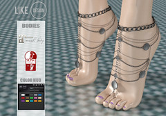 .: LIKE DESIGN :. Highfeet Anklet V7 ( With Color HUD ) (LIKE-DESIGN) Tags: anklet second life secondlife fingure toe indian boho maitreya slink high feet highfeet colorhud color hud