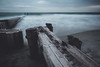 Weathered/2 (trevormarron) Tags: long exposure longexposure weathered beach overcast desolate wood structure