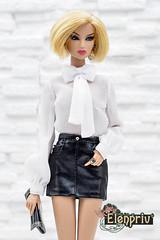 Kyori looks so hot in black mini-skirt by ELENPRIV (elenpriv) Tags: kyori black miniskirt elenpriv sato quicksilver 12inch fashionroyalty fashion doll fr2 jason wu integrity toys handmade clothes elena peredreeva