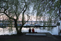 An der Alster im April 2018 (www.sommer-in-hamburg.de) Tags: hamburg alster aussenalster frühling anderalster abenddämmerung dämmerung abend romantik