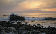Sunset at Mill Creek (San Francisco Gal) Tags: sunset pacificocean water wave splash rock spray cloud bigsur millcreek