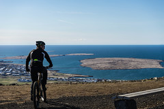 DSC04529 (Guðmundur Róbert) Tags: iceland moutain biking mtb bikes mountain hjól reiðhjól hjóla cycling mountains sky blue sony a7ii kit lens landscape intense cube 29er downhill uphill view island ísland black white