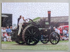 Wentworth Personal Puzzle (pefkosmad) Tags: jigsaw puzzle hobby pastime leisure wentworth wooden whimsies figurals medite traditional wood complete used secondhand personalpuzzle photograph photo steam traction engine