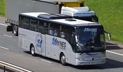 T80GSM  Maynes, Buckie (highlandreiver) Tags: t80gsm t80 gsm maynes coaches buckie mercedes tourliner bus coach m74 gretna