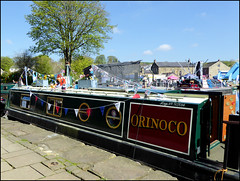 'Orinoco' looking good for the Skipton Waterways Festival. (Country Girl 76) Tags: ~waterways festival skipton north yorkshire orinoco narrow boat leeds liverpool canal decoration bunting in explore