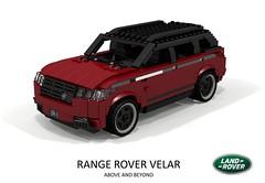 Range Rover Velar - 2018 (lego911) Tags: range rover land velar suc cuv crossover aluminium aluminum wagon luxury offroad premium awd v8 british gb auto car moc model miniland lego lego911 ldd render cad povray foitsop