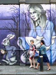 We're not late yet (sasastro) Tags: streetart graffiti newgoulstonstreet aldgate streetphotography urban streets people london