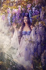 "TEATRONATURA ""Wisteria comes to life"" (valeriafoglia) Tags: model magic makeup art atmosphere wisteria purple fantasy fairy flowers nature nymph light lights beautiful beauty ethereal photo photography portrait pretty creative composition capture colors creature c"