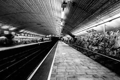 Romsås metro sation (jonarnefoss2013) Tags: sonyrxmoments visitoslo norway oslo ruter sporveien sorthvitt blackandwhite romsås