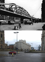 George's Dock Gates, 1950s and 2018 (Keithjones84) Tags: liverpool oldliverpool thenandnow rephotography