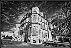 Château VALMER (thierrybalint) Tags: château marseille parc valmer nb bw palmier nikoniste nikon castle park palm sky building tour tower