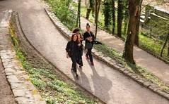 Three Ladies (alexanderferdinand) Tags: kroatien zagreb natur architektur naolfi naomi nina canoneos5dmarkiv ef2470mmf28liiusm girls serpentinen stadtpark backlight hrvatska