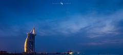Burj Al Arab (hisalman) Tags: dubai burj buralarab bluehour night evenin longexposure evening towers buildings city travel weather clouds sky