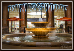 FolsomByNightPrism_8718 (bjarne.winkler) Tags: barnes and noble fountain palladio shopping center with prism created incameracomposited neon sign folsom ca