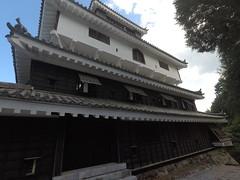 Castle NW _orig_LG (Hazbones) Tags: iwakuni yamaguchi yokoyama castle kikkawa suo chugoku mori honmaru ninomaru demaru wall armor samurai spear teppo gun matchlock map ropeway