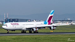 OO-SCX Eurowings Airbus A340-313 (airliners.sk, o.z.) Tags: airport vienna schwechat loww vieloww airplane airbus a340 a340300 airline eurowings brussels airlines airlinerssk