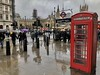 Rainsoaked London (Henry Root) Tags: london telephone box underground tube wet rain umbrella housesofparliament street whitehall sign sky reflections england unitedkingdom greatbritain