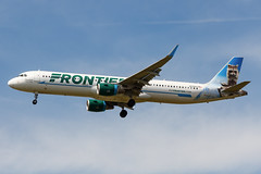 """N720FR Frontier Airlines A321-211(WL) """"Crockett the Raccoon"""" (PHL) (Alpha Victor Photo) Tags: phl kphl philadelphiainternationalairport philly philadelphia airliner aviation airplane aviationphotography airliners aircraft airline airlinerphotography aerospace airport airplanes arrival commercialaviation commercialairplane commercialairliner commercialjet planespotting planespotter passengerjet plane passengerairplane jetliner jetplane jetphotos jet journey finalapproach landing n720fr frontierairlines airbusa321 a321200 a321231 sharklets"""