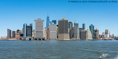 Water Taxi View (20180422-DSC05171) (Michael.Lee.Pics.NYC) Tags: newyork watertaxi pier11 wallstreet lowermanhattan redhook brooklyn ferry boat architecture cityscape skyline wtc worldtradecenter sony a7rm2 fe24105mmf4g