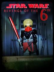 REVENGE OF THE 6TH (LegoKlyph) Tags: lego custom mini figure brick block build star wars sith 6th may dark lord bane plagueis venamis darth alien bith tenebrous revenge holiday red saber