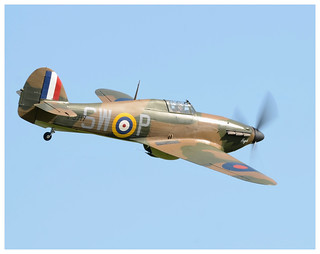 An absolute joy to watch, Hurricane P3717 at Old Warden.
