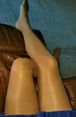 Movie Time (Terri James) Tags: crossdresser crossdress crossdressing cd pantyhose phose nylons mantyhose transvestite tights tv suntan legs leggs