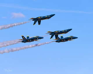 United States Navy Blue Angels performing at the 2018 Luke Days, Luke Air Force Base in their Boeing F/A-18C Hornet's