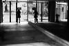 Entering the garden (pascalcolin1) Tags: paris femme woman glace miroir mirror reflets reflection hall jardin garden lumière light ombre shadows photoderue streetview urbanarte noiretblanc blackandwithe photopascalcolin 5omm canon50mm canon