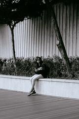 Aberdeen, Hong Kong (James Banko Photography) Tags: girl sonya7 streetphotography sony streetphotographer street streetprography blackandwhite asia composition melbournephotographer