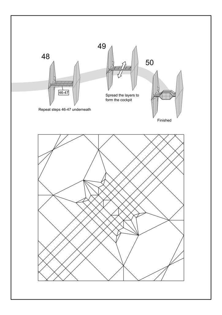 16 Point Origami Star Diagram