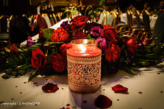 Wedding Candle (Holfo) Tags: candle wedding red flowers arrangement friends nikon d40